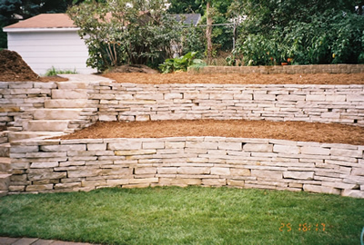 Here Build wooden retaining wall Wood Design and Project